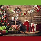 SERWOO 6 Stück Weihnachten Girlande Banner Wimpelkette Papier Girlande Weihnachtsgirlande Merry Christmas Girlande Weihnachtsmann Schneemann Weihnachten Deko (2.7M / Jede Girlande) - 3
