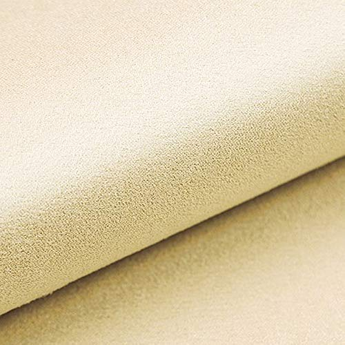 NOVELY® Alpen Polsterstoff im Wildleder-Look | Bezugsstoff | Microfaser | Velours | Möbelstoff (11 Creme)