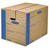 Bankers Box SmoothMove Prime Moving Boxes, Tape-Free and Fast-Fold Assembly, Large, 24 x 18 x 18 Inches, 6 Pack (0062904)