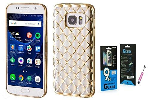 Carcasas y fundas SAMSUNG Galaxy S7Edge G935oro gold Case Silicona antigolpes carcasa...