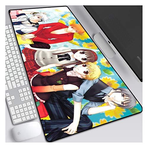 HOTPRO Alfombrilla de ratón para Juegos,Anime Mouse Pad XXL-90x40CM,Superfície con Textura Especial,Base De Goma Antideslizante,para Gamers Ordenador,PC y Portátil Frutas Canasta-1