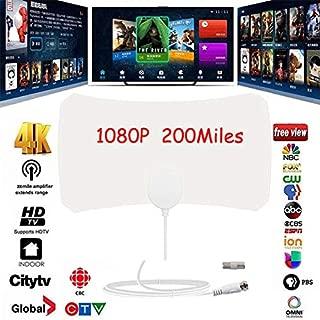 XuBa 200 Mile Range Antenna TV Digital HD Skylink 4K Antena Digital Indoor HDTV