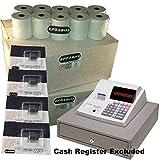 eposbits® marca 80rollos + 4x de tinta para Sharp xe-a130xea-130xea130caja registradora
