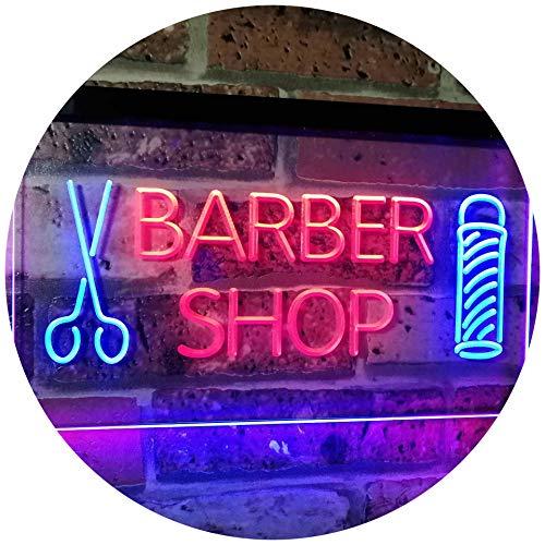 ADVPRO Barber Shop Hair Cut Scissor Pole Display Dual Color LED Neon Sign Blue & Red 16' x 12'...