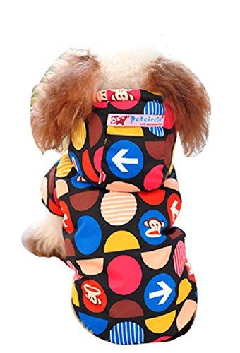 Blancho confortable d'hiver pour chien Veste imperméable pour animal domestique Vêtements (Noir, taille : L)