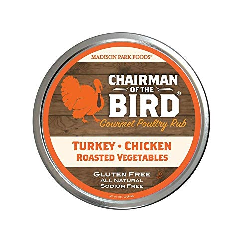 Madison Park Foods - Chairman of the Bird Gourmet Poultry Rub | Classic Herb Seasoning Dry Rub for Roasting, Smoking, Grilling - Gluten Free, All Natural, No Salt, No MSG (2 oz 1 Pack)