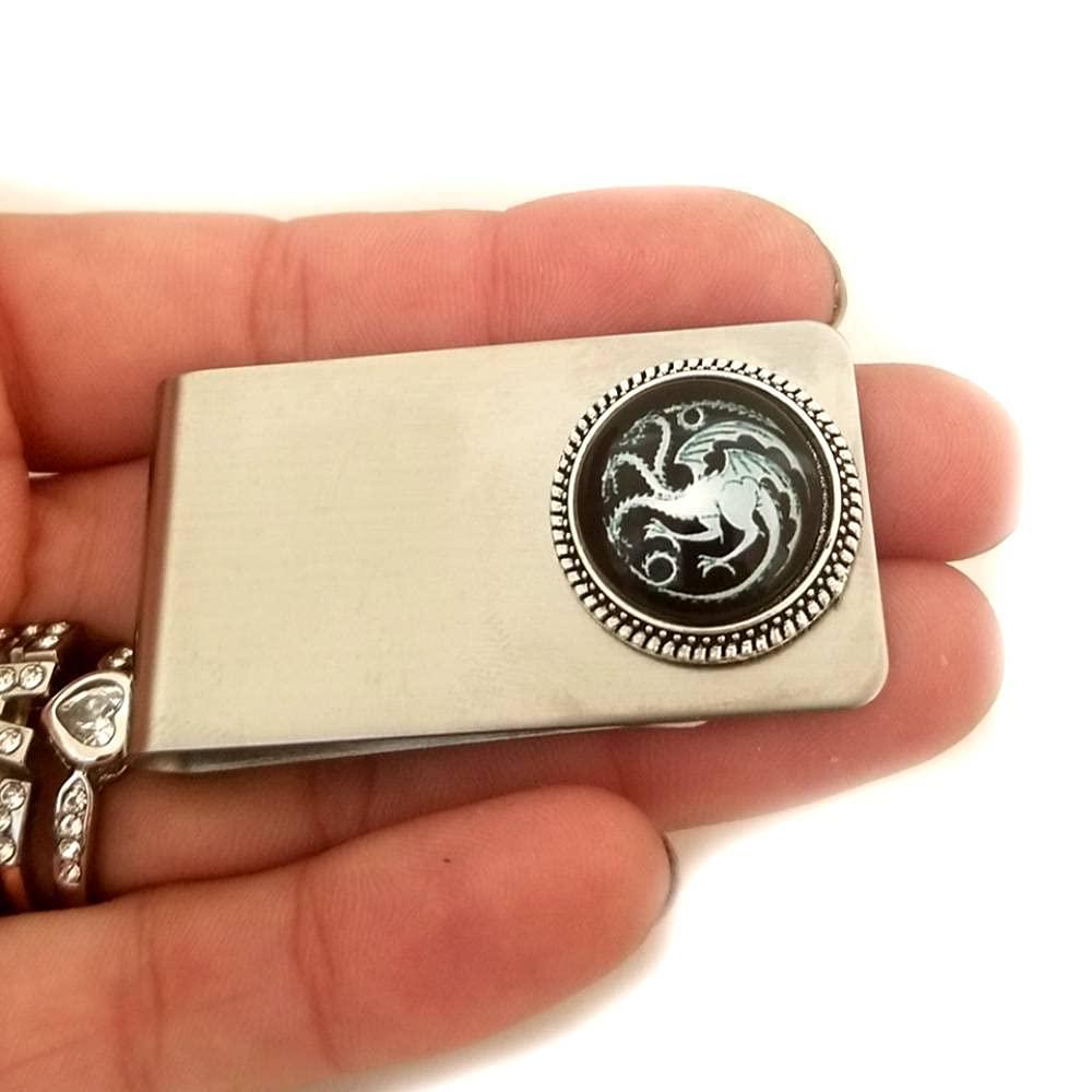 Dragon Steel Money Clip, Metal Wallet, Credit Card Holder, Busin