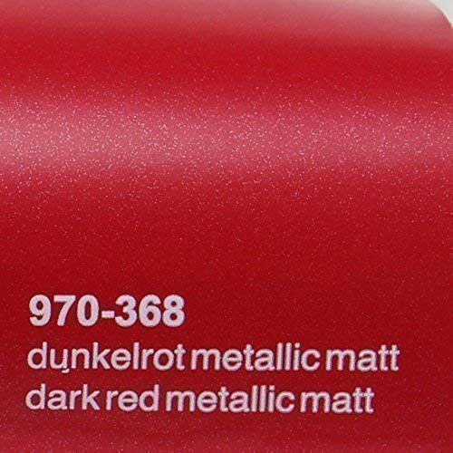 20,72€/m² Oracal 970RA 368 Dunkel Rot Matt Metallic gegossene Profi Autofolie 152cm breit BLASENFREI mit Luftkanäle