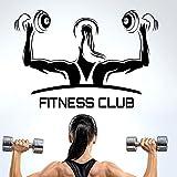 Applikation Fitness Club Gym Name Hanteln Aufkleber Mädchen Crossfit Aufkleber Bodybuilding Poster...