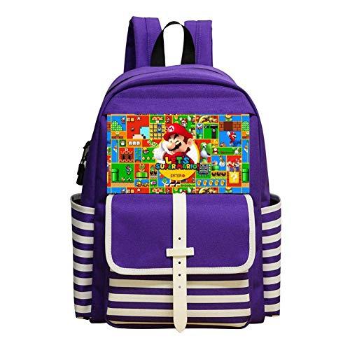 shenguang Zaini scuola per bambini Super M-ar-io Borse da scuola casual Daypack Bookbag per ragazze dei ragazzi
