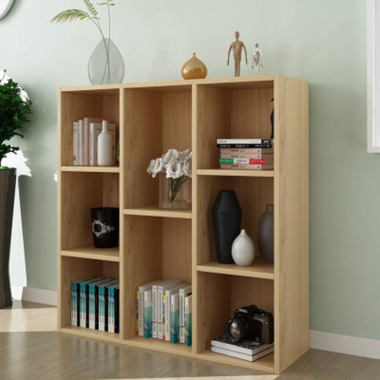 8-Cube Floor Standing Bookcase, Multi-Layer Storage Cabinet, Simple Storage Rack Display Shelves Bookshelf Organizer for Office-s 74x24x80cm(29x9x31inch)