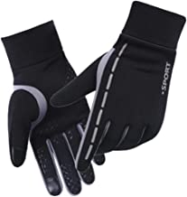 AXYOFSP Winter Outdoor Sports Gloves Warm Fleece Anti-Slip Touchscreen Unisex Windproof Waterproof Gloves for Skiing Motorcycle Cycling Hiking Sports