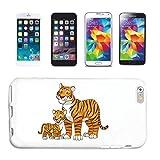 Helene - Carcasa para iPhone 4 / 4S, diseño de tigre con tigre y tigre