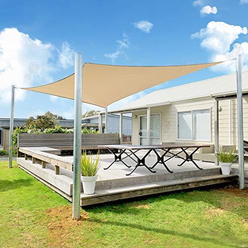 SUNLAX Großes Sonnensegel, 3,5 x 50,8 cm, rechteckig, 185 g/m², HDPE, UV-Block für Terrassenbeschattung