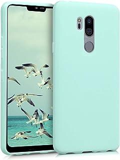 kwmobile Funda Compatible con LG G7 ThinQ/Fit/One - Carcasa de TPU Silicona - Protector Trasero en Menta Mate