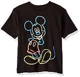 Disney baby boys Mickey Mouse Short Sleeve T-shirt T Shirt, Mickey Black, 4 US