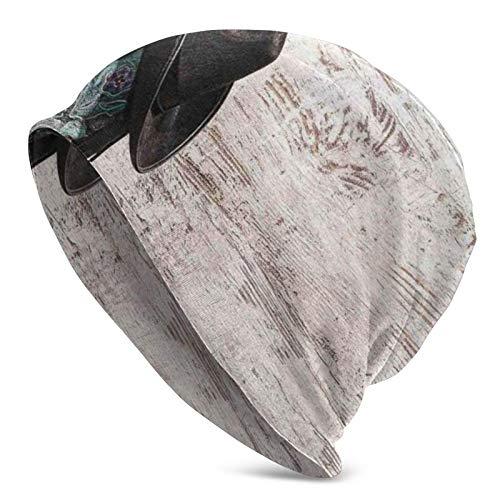 Sombrero de Vaquero de Rodeo Tradicional y Botas de Vaquera en un Fondo de Grunge Retro Gorro de Punto Gorro Holgado de Invierno y Verano