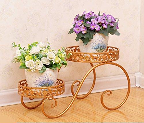 William 337 Stand de fleur en fer forgé Flower Stand multicouche Flowerpot Rack balcon salon plante d'intérieur Stand petit (Couleur : A)