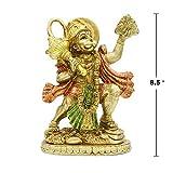 alikiki Hindu God Hanuman Carrying Herb Mountain Statue
