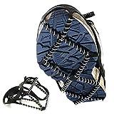 CRZJ Schuh Spikes Silikon Schneeketten Im Freien Gummifeder Schuhüberzug Einfach Rutschfest Steigeisen Bergsteigen Studs, Einfach zu tragen