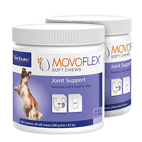 MOVOFLEX Joint Support Soft Chews for Dogs | Veterinarian Formulated, Gluten-Free | 2-Pack (Medium Dog)