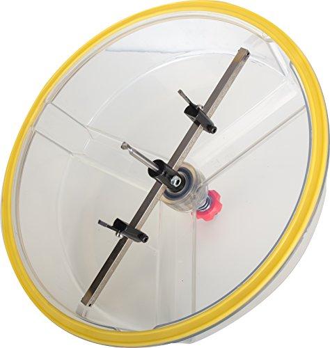 Falke Kreisschneider FKS-X (mit Schutzhaube) - Universal für Holz, Kunststoff, Gipskarton und mehr | Durchmesser stufenlos einstellbar (48-425 mm)