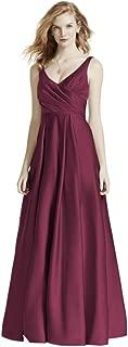 Long Satin Tank Ball Gown Bridesmaid Dress Style F15741