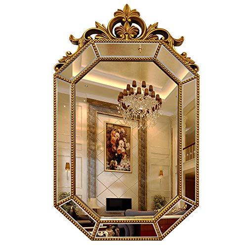 Badkamerspiegel met geometrische spiegel, vintage model, make-upspiegel, ingangspiegel, woonkamer, wanddecoratie, spiegel
