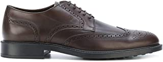 Luxury Fashion | Tod's Men XXM45A00C10D90S800 Brown Leather Lace-up Shoes | Season Permanent