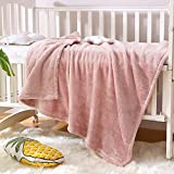 Exclusivo Mezcla Soft Plush Fuzzy Fleece Baby Blanket Throw Blanket for Boys, Girls, Toddler and Kids Nap Blankets for Crib Bedding, Nursery, and Security ( 40x50 inches, Dusty Pink)