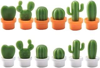 Succulent Cactus Refrigerator Magnetic Freezer Stickers Cute Refrigerator Magnets Cactus Magnets Fridge Magnet Locker Magnet Funny Magnets 12Pcs/Set