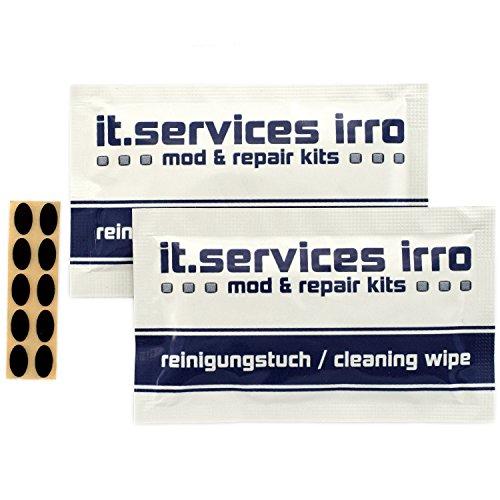 IT-Services Irro 2X Sets Glides/Mausgleiter passend für Logitech MX500 / MX510 / MX518 (v1) / MX700 / MX900, inkl. 2 Reinigungspads