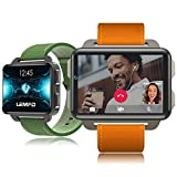 LEMFO LEM4 PRO Smart Watch: Support Android \ iOS, SIM Card, Blutooth Handsfree Calls, Camera, Heart Rate, GPS, Vibration, Apps Download. (Gray-Black.)