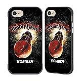 Head Case Designs Ufficiale Motorhead Bomber Arte Chiave Cover Fender Nera Compatibile con Apple iPhone 7 / iPhone 8 / iPhone SE 2020