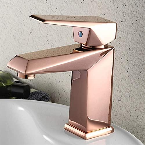 AXWT Venta Moderna como tortas Calientes Grifos de baño Grifo del baño Rosa Gold Grifo Faucet Faucets Exquisito Hot and Fried Water-Tap con Manguera