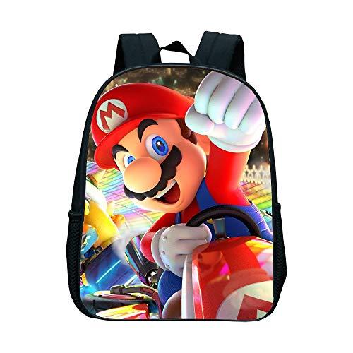 Mario Cartoon Schoolbag Super Mario Bros Children Shoulder Backpack Boys Book Bag Kids Kindergarten Backpack Cartoon School Bags Best Gift Rucksack