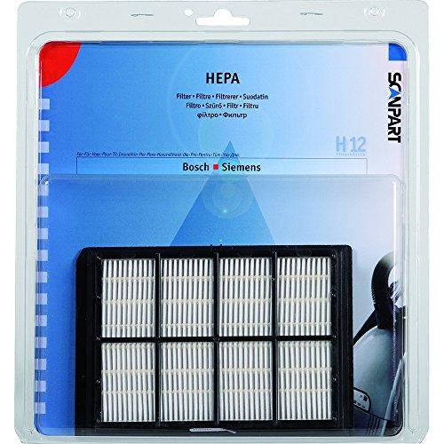 Hepafilter H12 für Bosch/Siemens Typ: F297 passend für Typen: VS6, VS5, VS7, VS9, BSA, BSC, BSD, BSF, Maße ca. 150x105x20