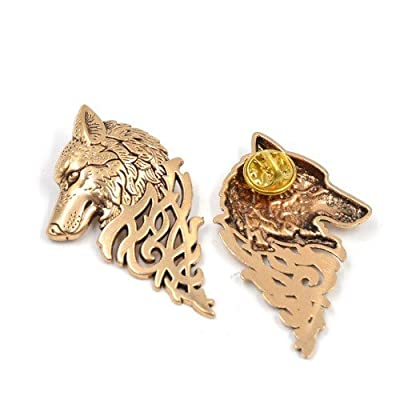 Buy any 2 & get 1 FREE! Game Thrones Brooch Pin Badge Hand To The King Tywin Lannister GOT Dragon Steampunk Song Ice Fire Lapel And Metal Stark Silver Replica Unique Fashion Jewellery Silver or Gold Double Vintage Hot Fashion Trend