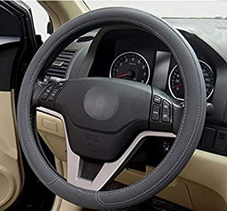 Microfiber Leather Steering Wheel Cover, Anti-slip Matte Finish, Soft Padding, Universal 15 Inch Car Steering Cover