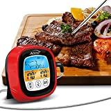 <span class='highlight'><span class='highlight'>AOZBZ</span></span> Cooking Thermometer, for Kitchen BBQ Grill Smoker Meat Oil Milk Yogurt Temperature, Touch Display Screen Timing Function, with Bracket and High Temperature Resistant Waterproof Probe (red)