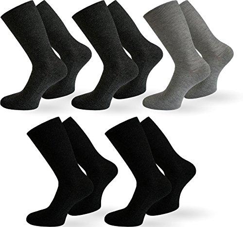 normani 10 Paar Diabetiker Herren Socken ohne Gummi farbig Baumwolle Farbe Baumwolle/Dunkel Größe 39/42 - 2
