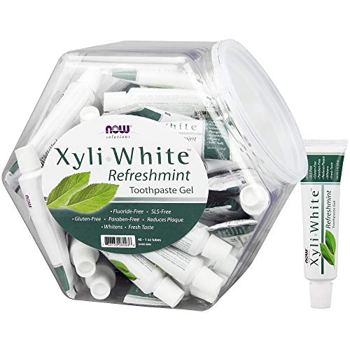 NOW Solutions, Xyliwhite™ Toothpaste Gel, Refreshmint, Cleanses and Whitens, Fresh Taste, 40 Units, 1-Ounce Tubes