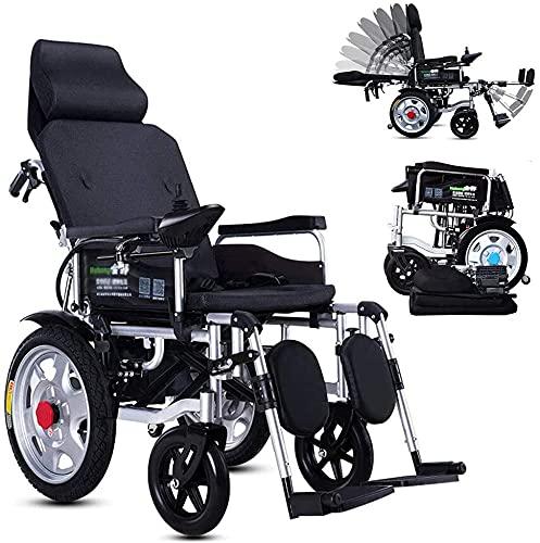 Total de acero de pie completamente reclinado Tubo de acero espesado Cuatro ruedas basculante basculante para personas mayores con discapacidad,Negro
