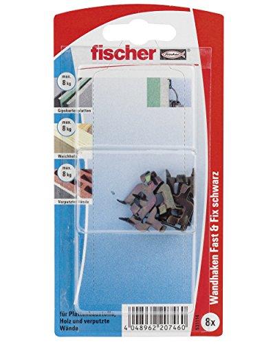fischer 531114 Fast & Fix SB-Karte, Inhalt: 8 x Fast & Fix schwarz