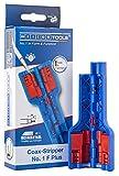 Bild des Produktes 'WEICON TOOLS Coax-Stripper No. 1 F Plus für F-Schraubstecker | Abisolierwerkzeug für Koaxialkabel, Antennenkab'