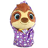 Disney Junior T.O.T.S. Cuddle & Wrap Sunny the Sloth, 10-inch plush