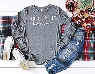 Jingle Bells Batman Smells Shirt Long Sleeve Shirt Funny Christmas Shirt Winter Shirt Christmas Shirt Holiday Shirt Cute Holiday