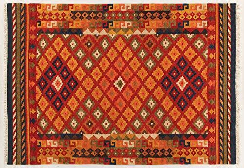 Kilim Carpets by Jalal Tapis Kilim Sivas 1Rouge/Multicolore 60x 90cm
