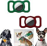 AXsmyi 2/4 Piezas Funda Protectora de Silicona para Mascotas, Seguimiento GPS Ajustable Accesorios para Perros y Gatos localizador Anti-perdida Airtags para niños Bolsas de Ancianos (A)