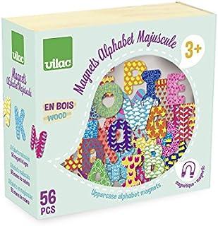 Vilac6702 - Juego de 56 Letras mayúsculas magnéticas